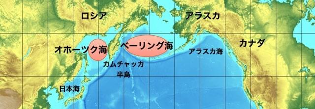 カニが獲れる海域の場所