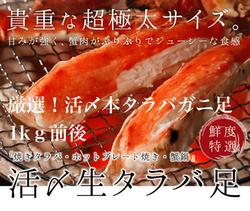 タラバガニ脚「蟹の匠」1kg前後