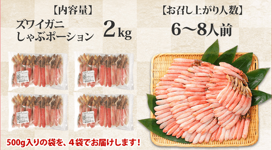 商品イメージ「内容量と食べる人数」