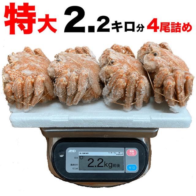 毛ガニ570g前後×4尾(ボイル加済み,訳あり)